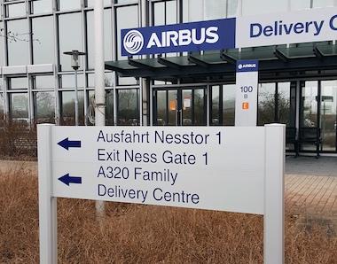 Kettler Design Schilder hamburg für Airbus